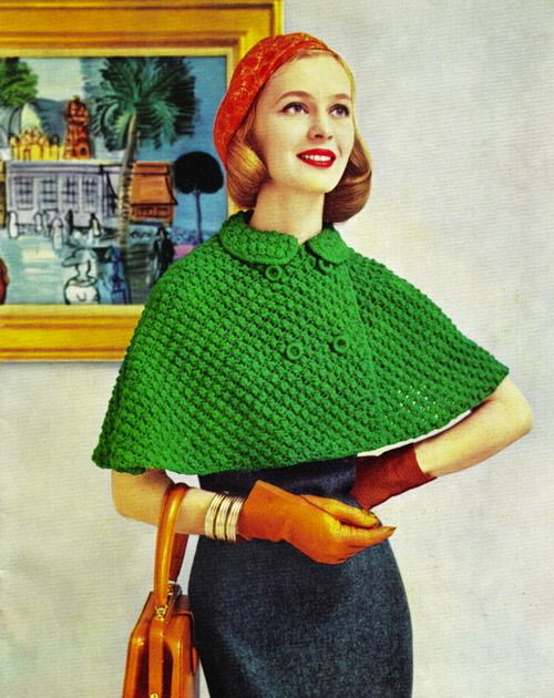 Knitted capelet, 1950s