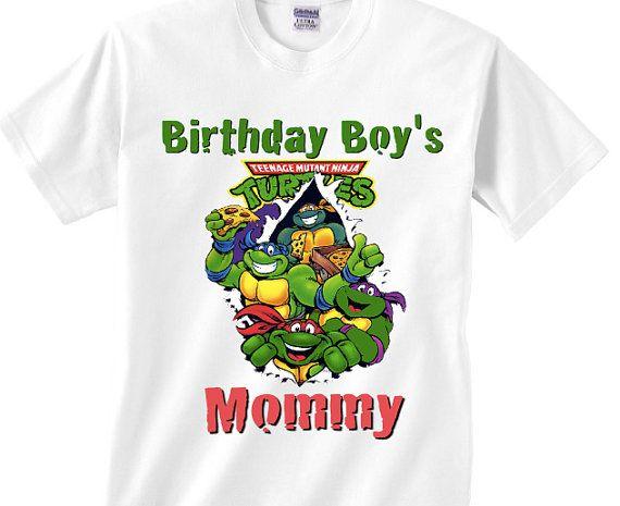 Teenage ninja turtle birthday mommy shirt - Mother of the birthday boy shirt.