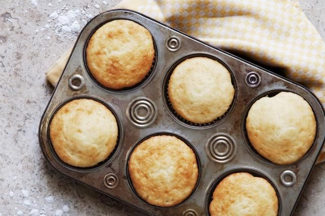The key to making great muffins is mixing the batter just enough to combine all the wet and dry ingredients, but without overmixing it.