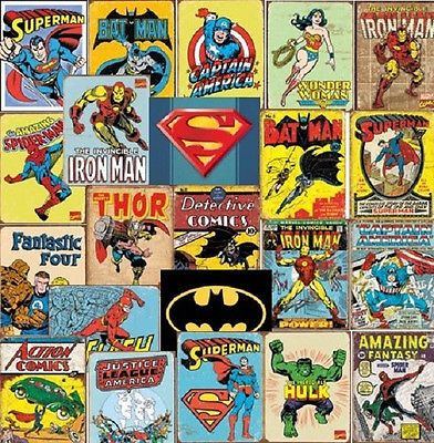 superhero tin sign (and more!) sale http://www.ebay.com/sme/rwb101743/offers.html