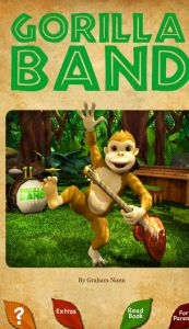 Gorilla Band 3D story book with music - This is a great little storybook app that has great touch of functionality and is a great find for younger users. It's both user friendly and quite entertaining for both parent and kids alike. You can select either 'Read to Me' or 'Read Myself' and move forward into the storyline of the app. Touch the monkeys in the trees to have them drop down and join the band. Click the image for our full review.