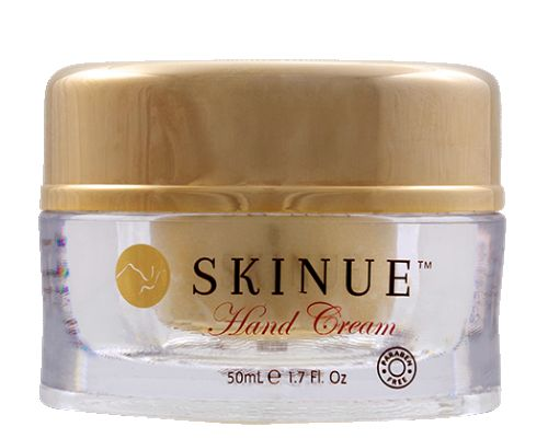 Skinue Hand Cream is a must when it comes to your daily hand and nail routine. This cream's natural ingredients will leave your hands soft, healthy and feeling pampered.