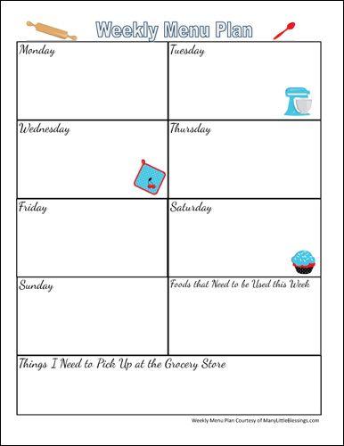 25+ best ideas about Menu Planning Templates on Pinterest ...