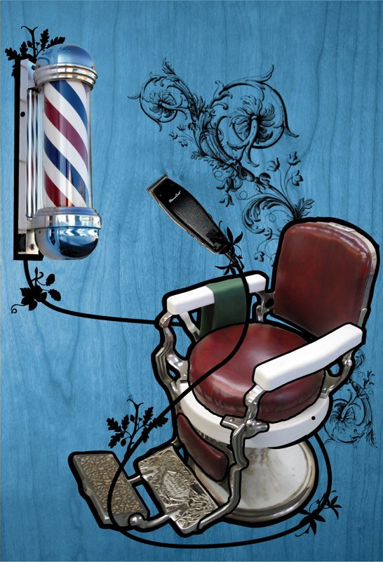 Barbershop Background | Barber Shop by ~mevin on deviantART   this would make a cool tattoo..