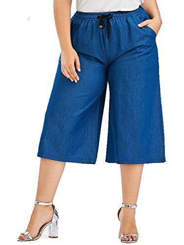 New Trending Denim: chimikeey Women Plus Size Soild Color Wide Leg Denim Drawstring Culottes Pants jeans. chimikeey Women Plus Size Soild Color Wide Leg Denim Drawstring Culottes Pants jeans  Special Offer: $29.99  422 Reviews Kindly choose the size according to the sizing chart attached It'll be highly-appreciated for leaving a positive review if satisfied after receiving Feel free...