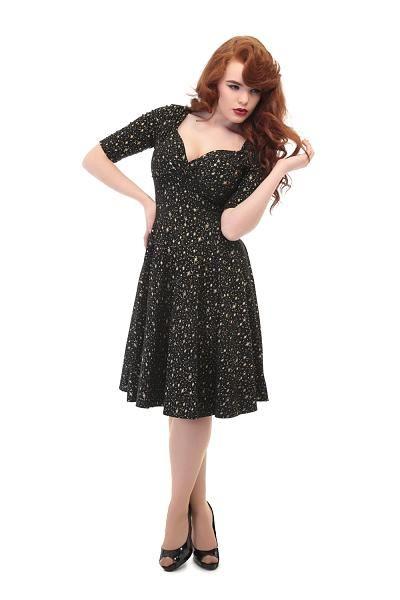 Trixie Doll Dress, Starry Black