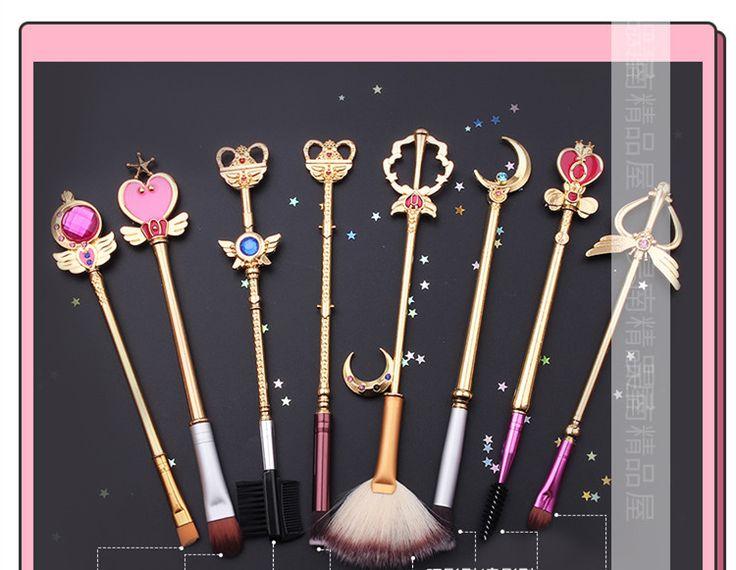 美少女戦士セーラームーン メイクブラシ ピンクかわいい8本セット メイクブラシセット化粧ブラシセット化粧ブラシ
