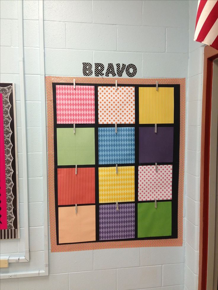 My 4th grade classroom- I like the idea to use clothespins.  Makes it easy to change