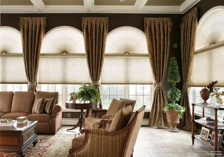 34 best window treatment ideas for large windows images on - Living room window treatments for large windows ...