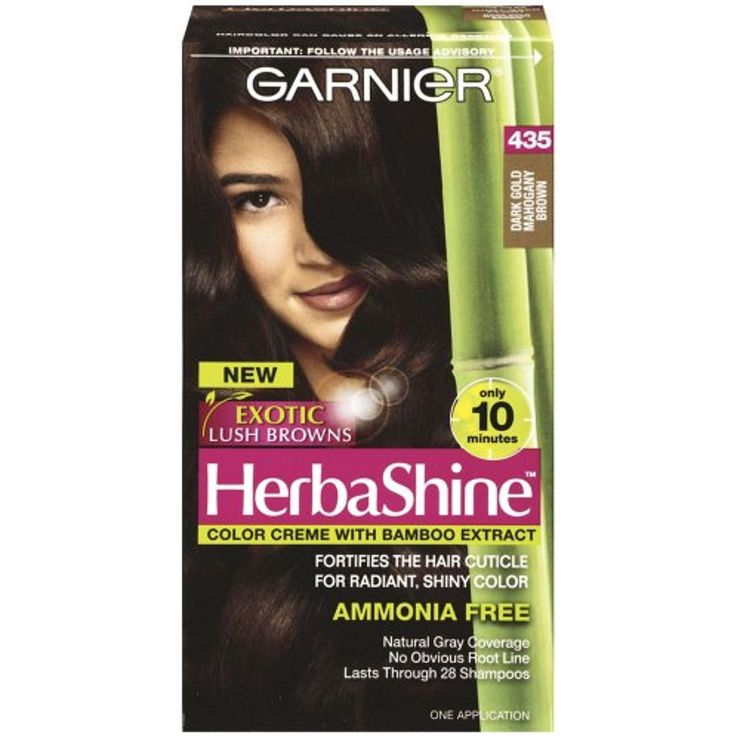 Garnier Herbashine Haircolor, 435 Dark Gold Mahogany Brown * You can get more details by clicking on the image. (This is an affiliate link and I receive a commission for the sales)