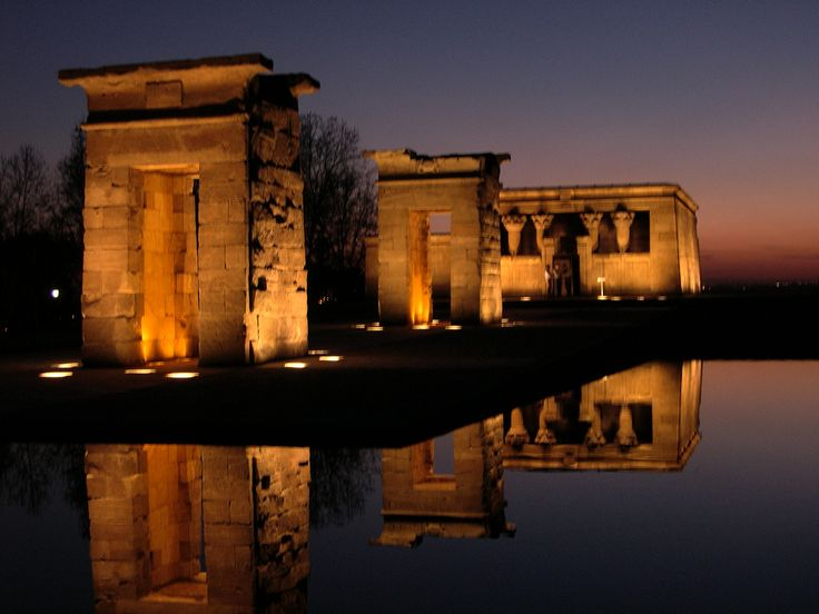 Templo de Debod (a gift of Egypt's goverment to Madrid years ago). Perfect place to watch a sunset.