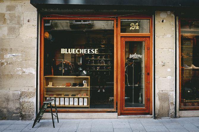BLUECHEESE - PARIS Lettres peintes et dorées à la main Gold leaf - Sign painting