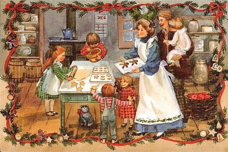 Christmas Post Сards —  Vintage  (900x603):