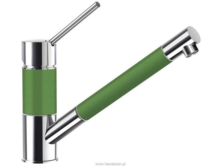Schock SC-50.120 Schock bateria zlewozmywakowa z wyciąganą wylewką peppermint green - 503120GPP  http://www.hansloren.pl/Zlewozmywaki-granitowe/Zlewozmywaki-1-komorowe/SCHOCK