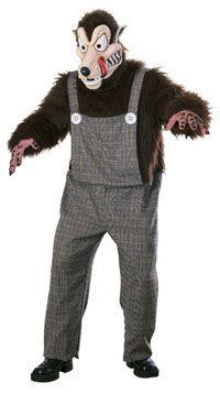 Big Bad Wolf Miedo Traje - disfraces para adultos