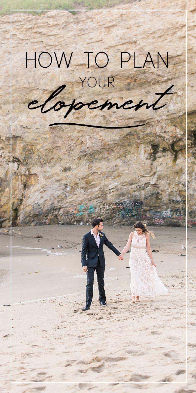 How to plan an elopement wedding