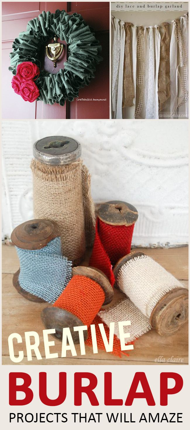 Amazing Burlap Projects that You Have to