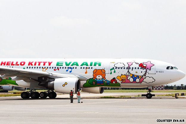 Taiwan airline EVA Air - Hello Kitty planes... 2013