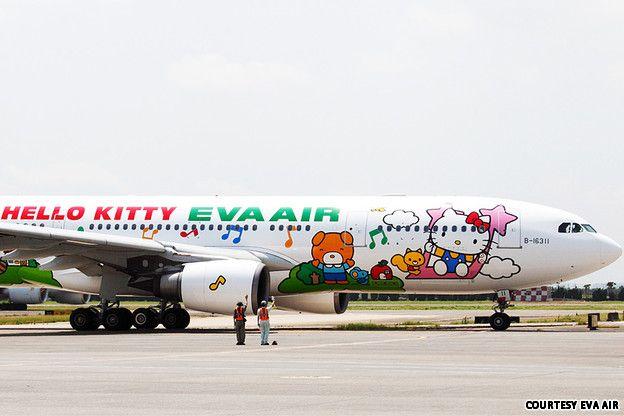 Taiwan airline EVA Air - Hello Kitty planes... 2013