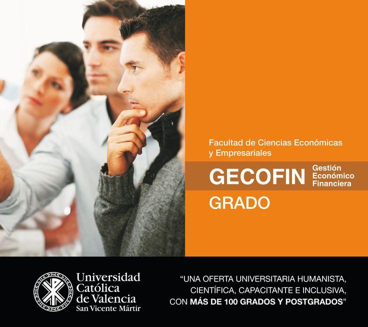 #Grado en #Gestión #Económico #Finaciera (#GECOFIN) (#presencial / #online) de la #UCV #FuturoUCV #TuGradoUCV