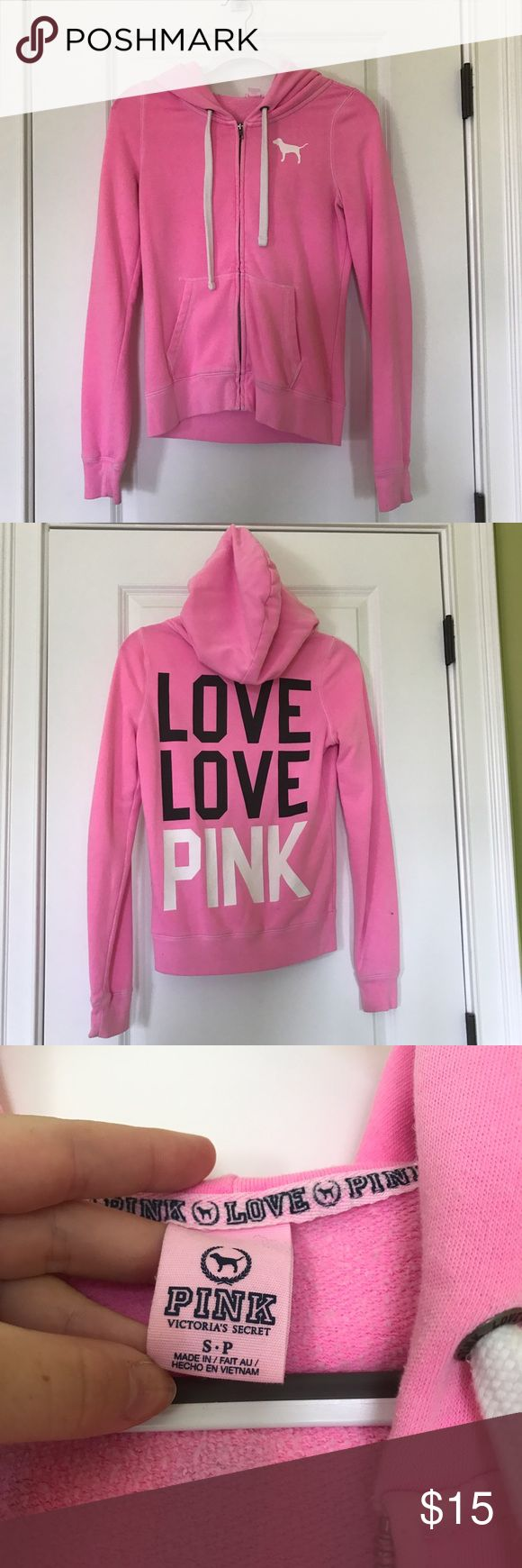 Victoria Secret PINK Zip Up Sweatshirt Victoria Secret PINK Zip Up Sweatshirt. Adorable jacket from VS! Perfect for some warmth and style. Selling because it does not fit me anymore. From a pet hair & smoke free home. PINK Victoria's Secret Jackets & Coats