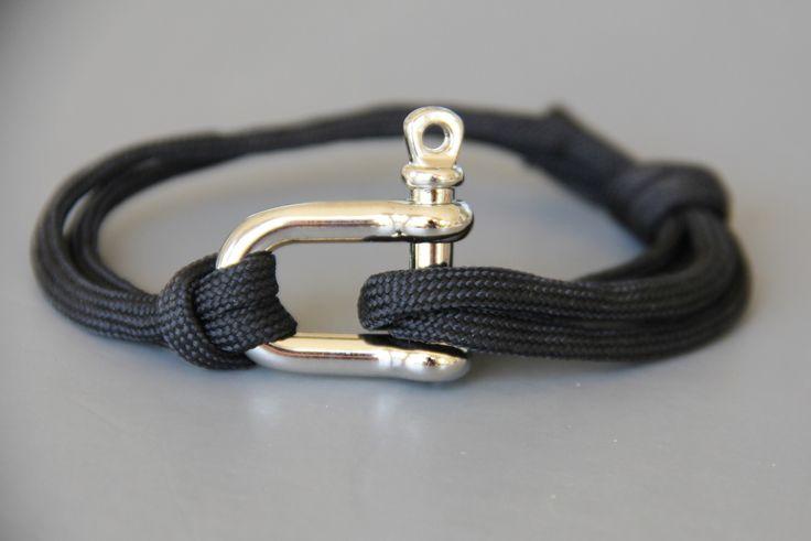 bracelet HOMME ajustable cordon parachutiste et manille : Bijoux pour hommes par made-with-love-in-aiacciu