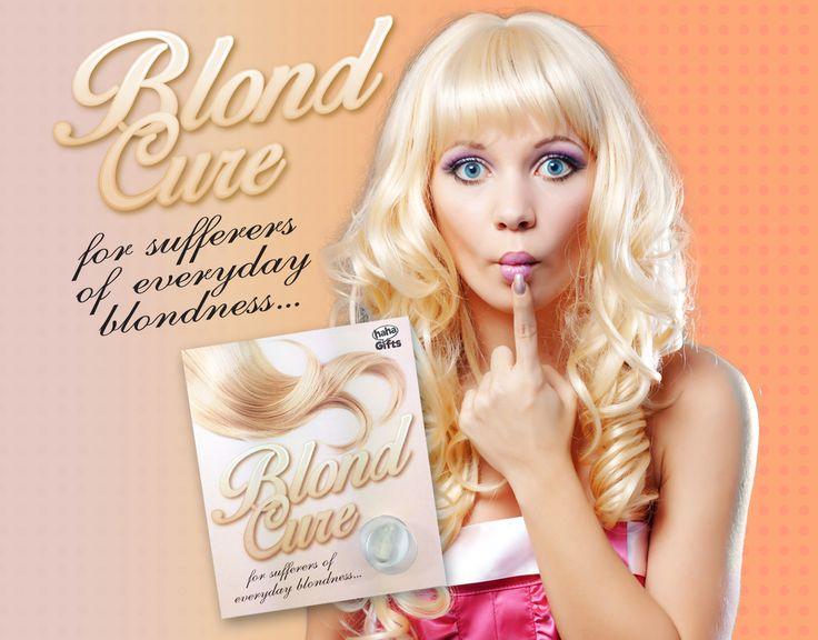 Blond Cure! For Sufferrers of everyday blondness! Secret Santa gift from HahaGifts! https://www.haha-gifts.com #badsanta #secretsanta
