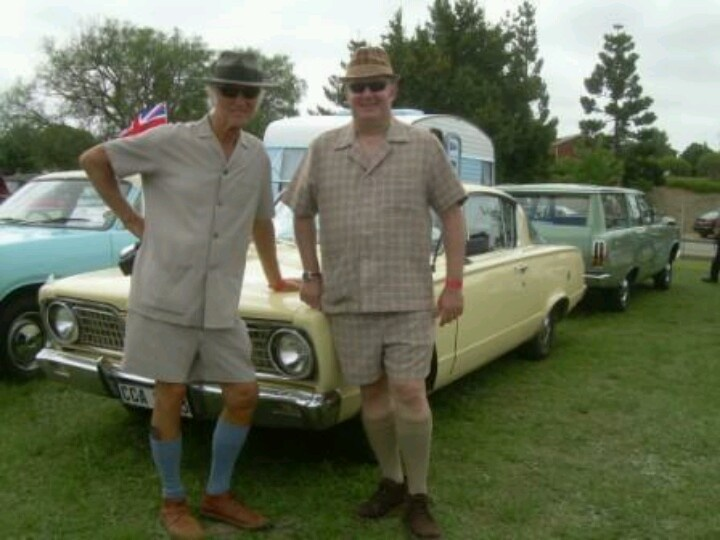 Safari suits and those socks with Grasshopper shoes (plus the hat)