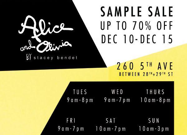 Alice and Olivia Sample Sale