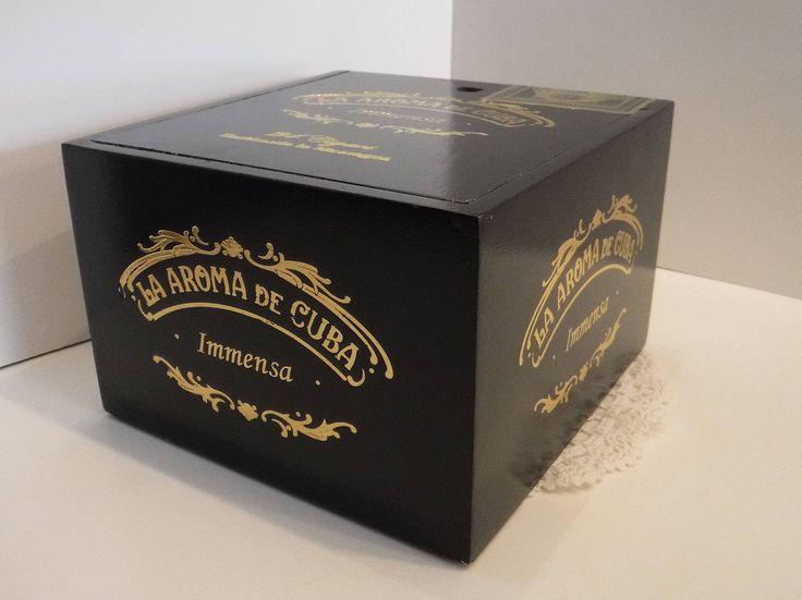 Black Cedar Cigar Box, Wood Cigar Box, Cedar Wood Purse, Jewelry Box, Supply Storage, Black Wood Cigar Box, La Roma De Cuba Empty Cigar Box by BeautyMeetsTheEye on Etsy