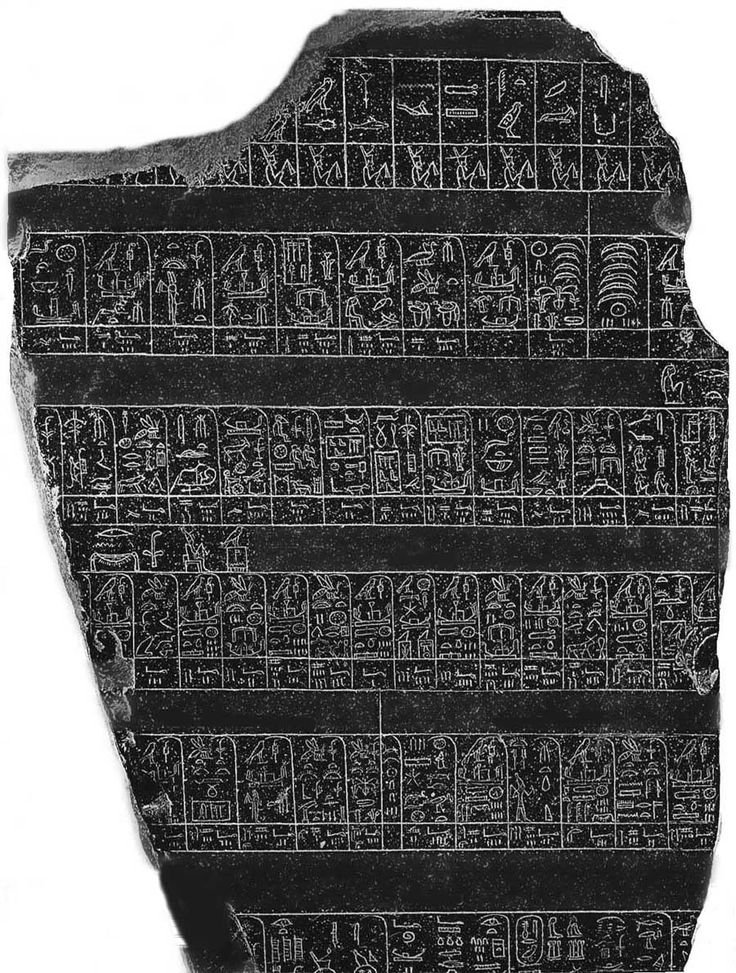 The Palermo Stone - hieroglyphic list - formatted as a table, or outline, of the kings of ancient Egypt before and after Menes, with regnal years and notations of events up until the time it was created, likely sometime during, or up until, the fifth dynasty since that is when its chronology ends. It also tabulates such information as the height of the Nile flood, the Inundation for some pharaohs, information on festivals (such as Sed festivals), taxation, sculpture, buildings, and warfare.