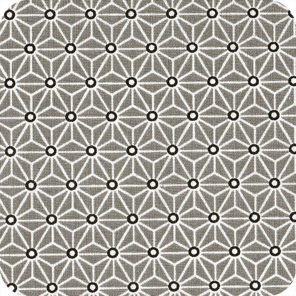Tissu d'ameublement Saki gris/blanc