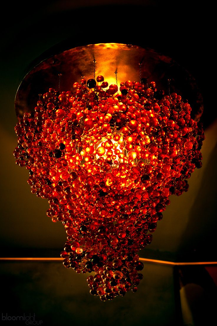 Huge copper and resin grape lamp, hanging, lamp to winehouse, pendant, bunch of grapes lamp