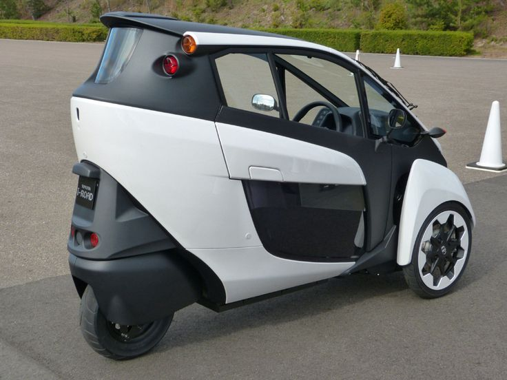 Toyota i-Road. This tiny electric three-wheeled vehicle probably won't be available in Canada. Something like this would offer the economy and fun factor of riding a motorcycle or scooter, while protecting you from the elements.