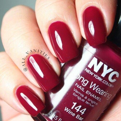 Wine Colored Nail Polish: NYC New York Color Nail Polish In Wine Bar