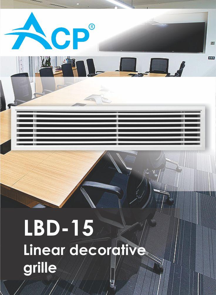 LBD-15 Linear Decorative Ventilation Grille (Grila Liniara Decorativa)  | #hvac | #acp | #manufacturer | #ventilation | #products | #romania