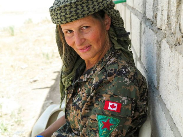 """A Canadian woman and soldier, Hanna Bohman, who has been fighting Isis in Syria has said they are """"a thorn in the side"""" and a """"knuckle-dragging pigs"""" in combat."""