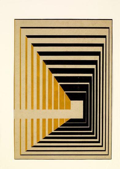 Estudo para cartaz da I Bienal de São Paulo The Museum