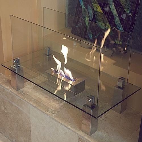 Fiero Freestanding Bio Ethanol Fuel Fireplace