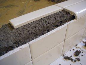 ceramic shower curbs | Radius Shower Curb