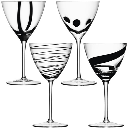Superior LSA Jazz Goblets, Black Decor X 4 To Go With Matching My Flutes And  Cocktail Glasses Design