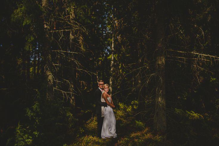 Wedding Portrait in Forest.
