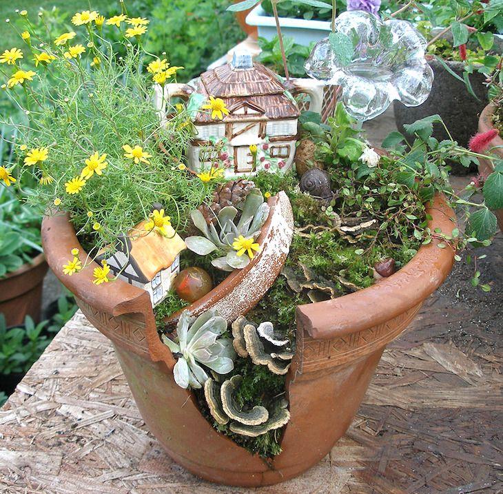 Incredible Broken Pot Ideas Recycle Your Garden: Don't Toss Your Broken Clay Pots. Instead, Transform Them