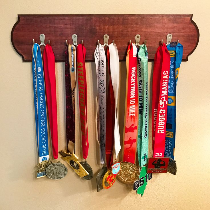Excited to share the latest addition to my #etsy shop: Running Medal Display Holder - Dark Cherry Stain Finish - Wooden Running Medal Display/Holder, Running Medal Holder, Running Gift http://etsy.me/2mNiAjt #housewares #homedecor #medalholder #medaldisplay #runningmedalholder