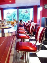 Route 66 Pasta Bar - Corsica - Diner Furniture provided by www.barsandbooths.com