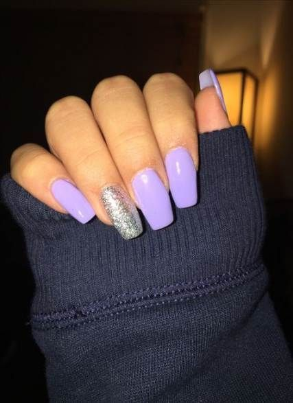 15 Cute Nail Art Designs To Welcome Summer Lilac Nails Lavender Nails Purple Acrylic Nails