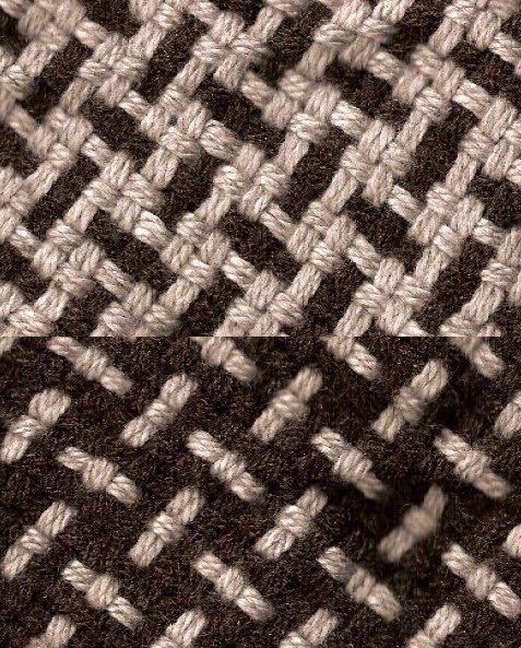Tejido en telar, punto barracán doble faz