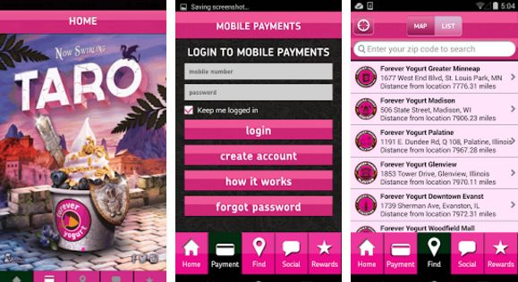 """Radikal Labs developed mobile app """"Forever Yogurt"""" available on for iPhone https://goo.gl/z9BYKl and Android https://goo.gl/SqEyfm"""