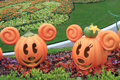 Minnie and Mickey pumpkins
