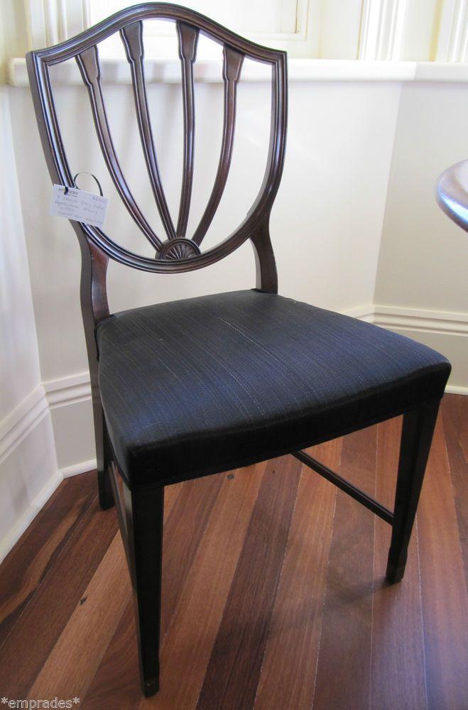 8 1950's Danish Georg Kofoed Hepplewhite design dining chairs